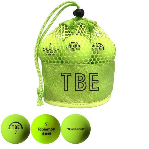 リーダーメディアテクノ ゴルフボール TOBIEMON 2ピース蛍光マット イエロー 12球 T-2MY