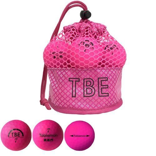 リーダーメディアテクノ ゴルフボール TOBIEMON 2ピース蛍光マット ピンク 12球 T-2MP