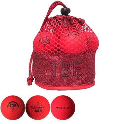 リーダーメディアテクノ ゴルフボール TOBIEMON 2ピース蛍光マット レッド 12球 T-2MR