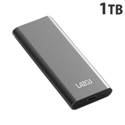 リーダーメディアテクノ LAZOS 外付けSSD (ポータブルSSD) 1TB L-S1T-G2(PS5動作確認済)