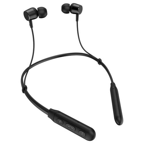 LMT Lazos ネックバンド型ワイヤレスイヤホン Bluetooth 5.1 防水 ブラック L-BTE-BK