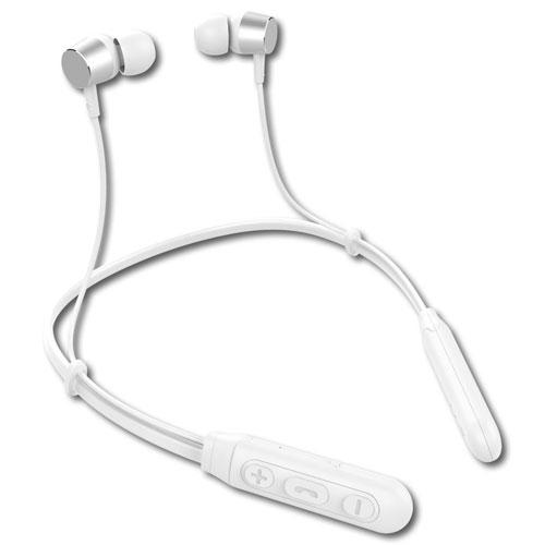 LMT Lazos ネックバンド型ワイヤレスイヤホン Bluetooth 5.1 防水 ホワイト L-BTE-W