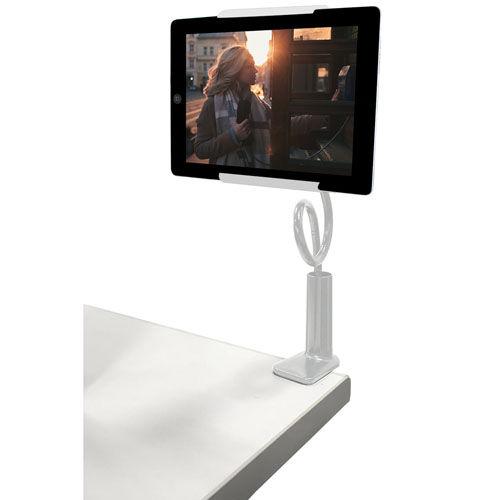 リーダーメディアテクノ Lazos タブレット用 アルミ合金 アームスタンド ホワイト L-TAA-W
