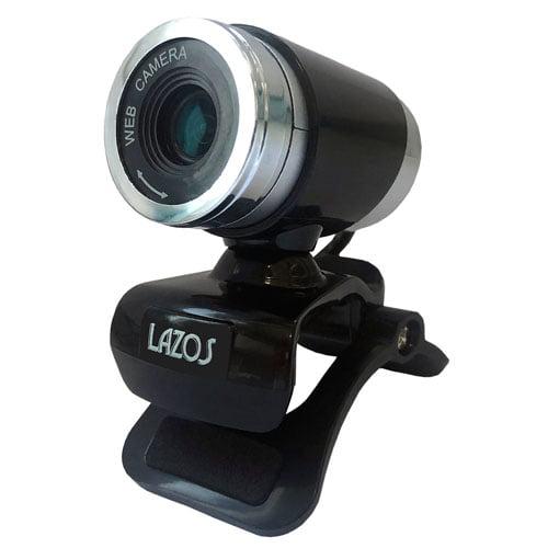 リーダーメディアテクノ Lazos ピント調整機能付きWEBカメラ マイク内蔵 高画質 720pHD ブラック L-WCHD-B