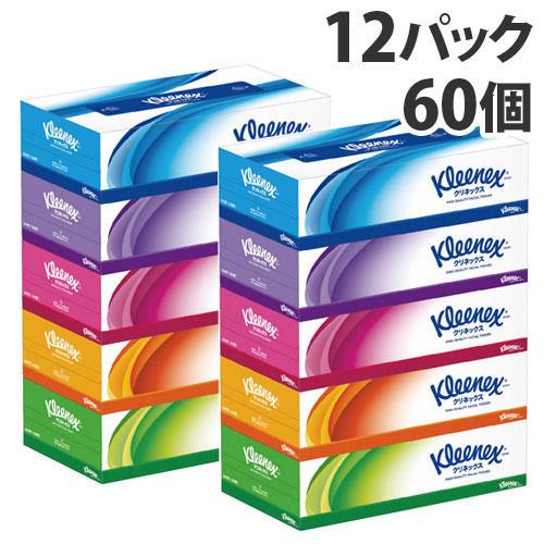 日本製紙クレシア クリネックス ティッシュペーパー 12パック(60箱)