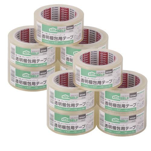 ニトムズ 透明梱包用テープ 業務用50巻