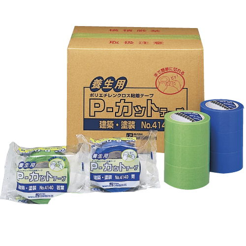 寺岡製作所 TERAOKA P-カットテープ 50mm×25m 白 30巻 No.415