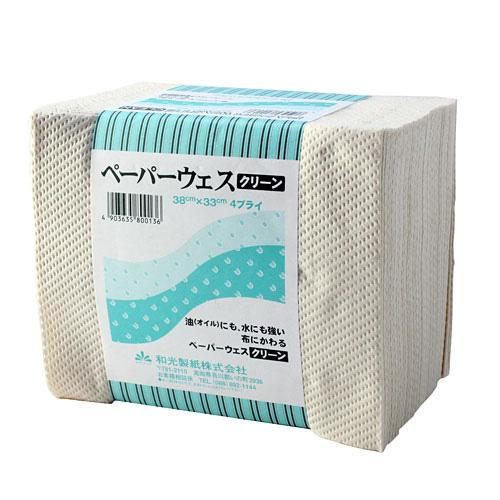 和光製紙 ペーパーウエス 工業用清拭ペーパー 4枚重ね50組 24個セット