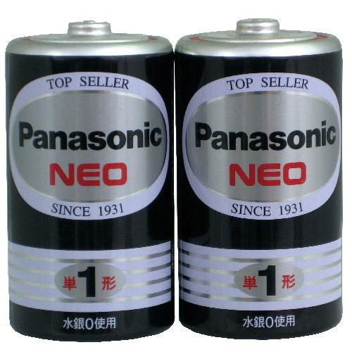 パナソニック マンガン乾電池 ネオブラック 単1形 20本 1箱 R20PNB/2VSE