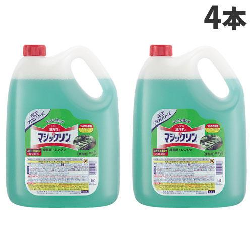 花王 キッチン用洗剤 マジックリン 業務用 4.5L 4本