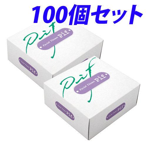 ミツワ ハーフサイズ ティッシュペーパー  50組(100枚) 100個セット