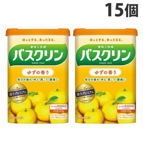 バスクリン 入浴剤 バスクリン ゆずの香り 600g 15個 【医薬部外品】