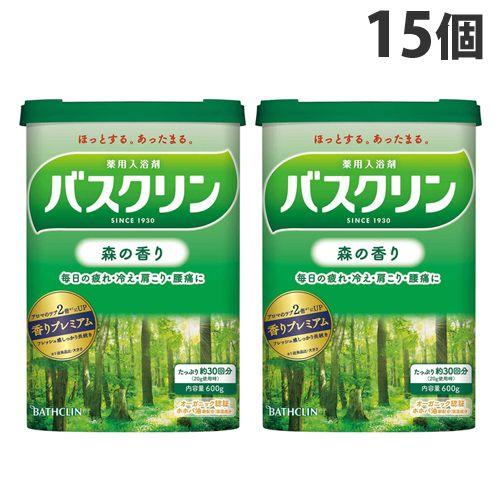 バスクリン 入浴剤 バスクリン 森の香り 600g 15個 【医薬部外品】