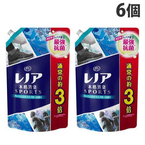 P&G 柔軟剤 レノア本格消臭 スポーツ フレッシュシトラスブルーの香り 詰替 超特大 1260ml 6個