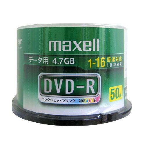 マクセル DVD-R 4.7GB 16倍速 データ用 ワイドプリンタブル スピンドルケース ホワイトレーベル 50枚 DR47WPD.50SP A