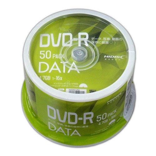 磁気研究所 DVD-R HIDISC 4.7GB 16倍速 データ用 50枚 VVDDR47JP50