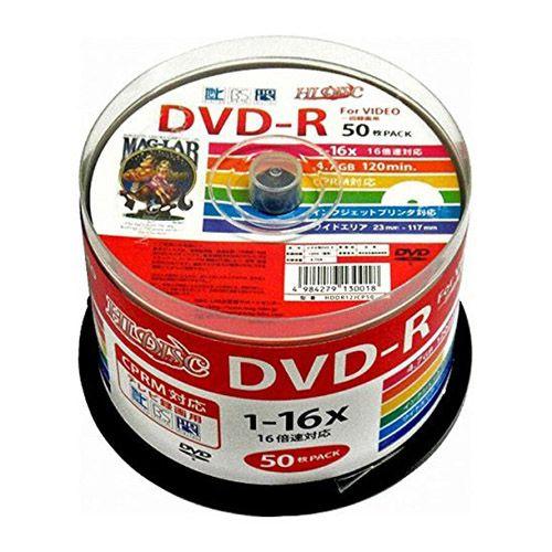 磁気研究所 DVD-R HIDISC 16倍速 録画用 CPRM対応 50枚 HDDR12JCP50