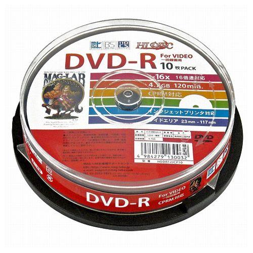 磁気研究所 DVD-R HIDISC 16倍速 デジタル録画用 CPRM対応 10枚 HDDR12JCP10