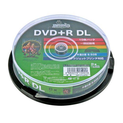 磁気研究所 DVD+R DL HIDISC 8.5GB 8倍速 データ用 10枚 HDD+R85HP10