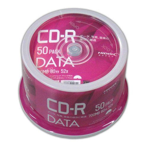 磁気研究所 CD-R HIDISC 80分 700MB 52倍速 データ用 50枚 VVDCR80GP50