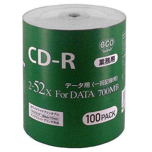 磁気研究所 CD-R HIDISC 2-52倍速 データ用 100枚 CR80GP100_BULK