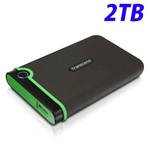 トランセンド HDD M3シリーズ ポータブルハードディスクドライブ 耐衝撃 USB3.1対応 2.5インチ 2TB