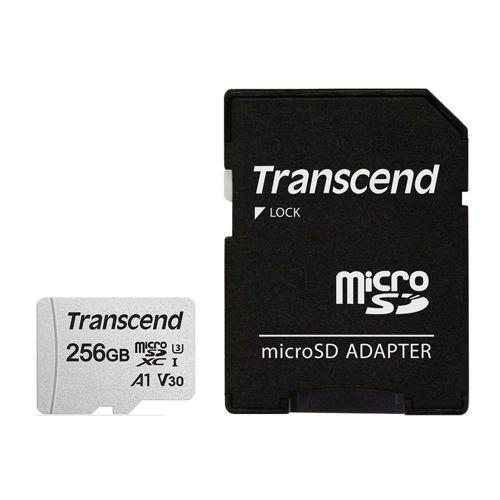 トランセンド microSDカード microSDXC 256GB Class10 UHS-I U3 V30 A1 変換アダプター付 TS256GUSD300S-A