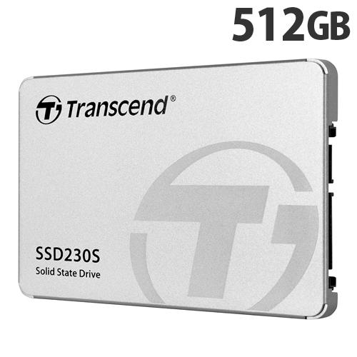 トランセンド SSD 512GB SATA-III 3D TLC搭載 2.5インチ アルミ筐体 TS512GSSD230S