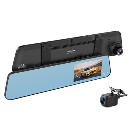 ナガオカ ドライブレコーダー movio ミラー型ドライブレコーダー 前後2カメラ 高画質 HDリアカメラ搭載 MDVR304MRREAR