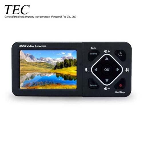 テック モニター搭載ポータブルHDMIメディアレコーダー TMREC-FHD2