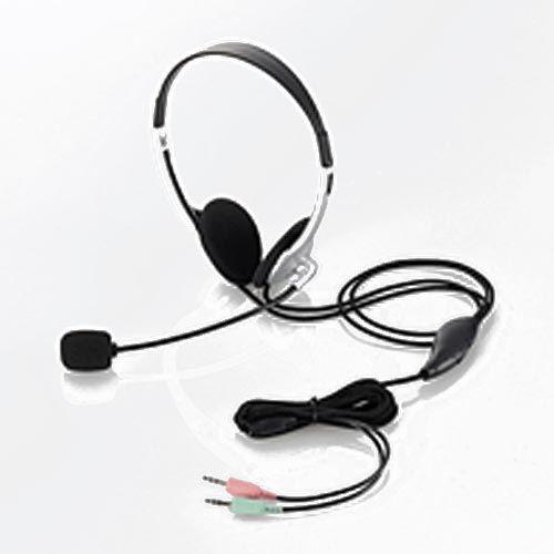 エレコム ヘッドセット マイクロフォン 両耳オーバーヘッド 1.8m HS-HP22SV