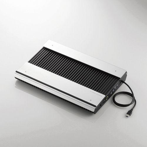 エレコム ノートパソコン用冷却台 USB3.0ハブ4個口 ブーストモード搭載 大型ファン2個付 ノートPC用クーラー 15.4~17インチ対応 ブラック SX-CL24LBK