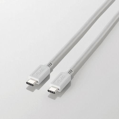 エレコム USB-Cケーブル C-Cタイプ USB3.1 2m ホワイト USB3-APCC20WH