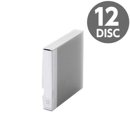 エレコム メディアケース Blu-ray/DVD/CD用ファイルケース 12枚収納 ブラック CCD-FS12BK
