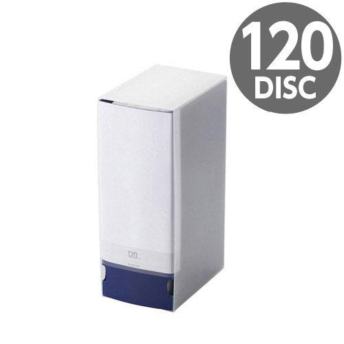 エレコム メディアケース Blu-ray/DVD/CD用ファイルケース 120枚収納 ブルー CCD-FS120BU