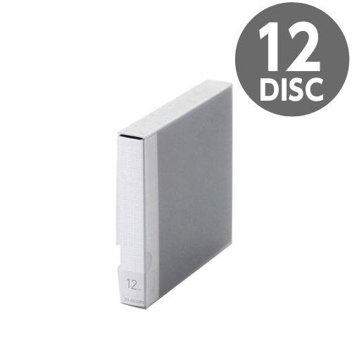 【売切れ御免】エレコム メディアケース Blu-ray/DVD/CD用ディスクファイル 12枚収納 ブルー CCD-FB12BU