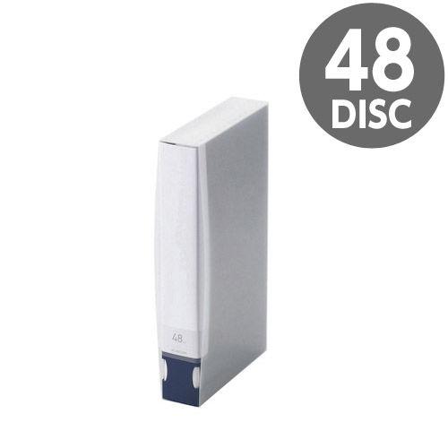 エレコム メディアケース Blu-ray/DVD/CD用ディスクファイル 48枚収納 ブルー CCD-FB48BU