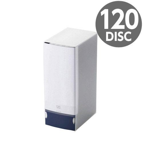 エレコム メディアケース Blu-ray/DVD/CD用ディスクファイル 120枚収納 ブルー CCD-FB120BU