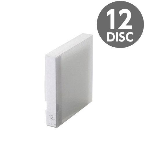 エレコム メディアケース Blu-ray/DVD/CD用ディスクファイル 12枚収納 クリア CCD-FB12CR