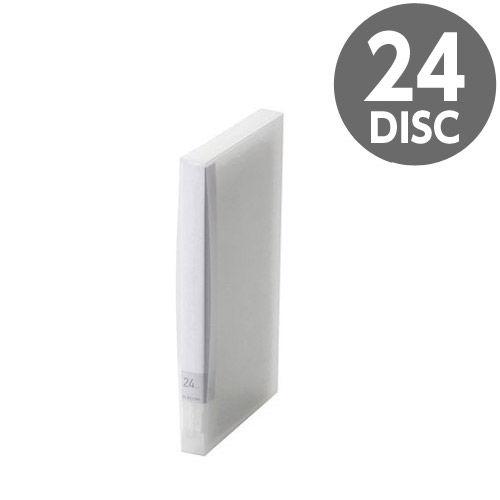 エレコム メディアケース Blu-ray/DVD/CD用ディスクファイル 24枚収納 クリア CCD-FB24CR