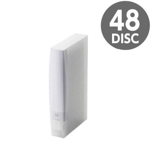 エレコム メディアケース Blu-ray/DVD/CD用ディスクファイル 48枚収納 クリア CCD-FB48CR