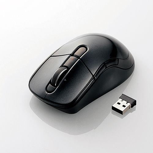 エレコム 無線マウス ワイヤレス レーザーマウス 高速スクロール Lサイズ 5ボタン ブラック M-LS16DLBK