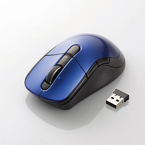 エレコム 無線マウス ワイヤレス レーザーマウス 高速スクロール Lサイズ 5ボタン ブルー M-LS16DLBU