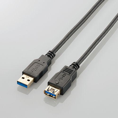 エレコム USB3.0ケーブル A-A延長タイプ スタンダード 2mブラック USB3-E20BK