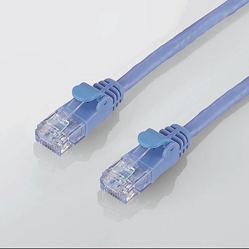 【売切れ御免】エレコム RoHS対応LANケーブル CAT6 簡易パッケージ 15m ブルー