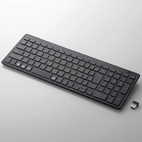 エレコム ワイヤレスキーボード ブラック TK-FDP099TBK
