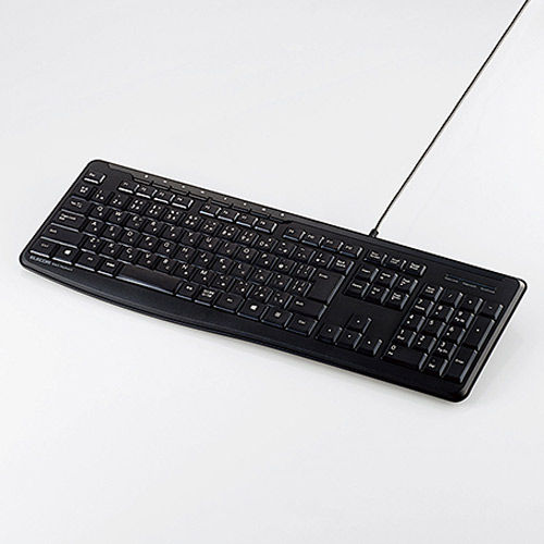 エレコム 有線静音フルキーボード メンブレン式 静音設計 マルチファンクション専用キー付 ブラック TK-FCM090SBK