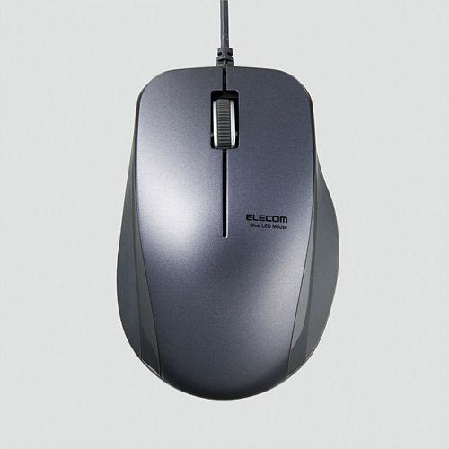エレコム マウス 静音3ボタンBlueLED有線マウス M-BL27UBSBK