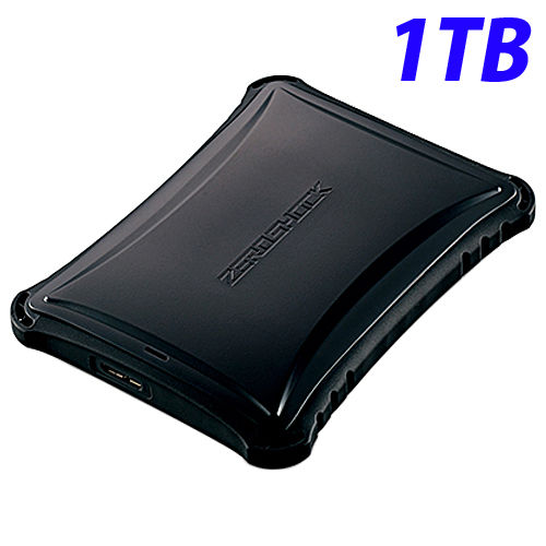 エレコム HDD ZEROSHOCK ハードディスクドライブ 1TB ブラック ELP-ZS010UBK