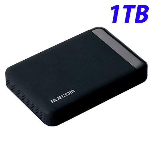 エレコム HDD セキュリティ対策用ポータブルハードディスクドライブ USB3.0 ハードウェア暗号化 パスワード保護 1TB ELP-EEN010UBK